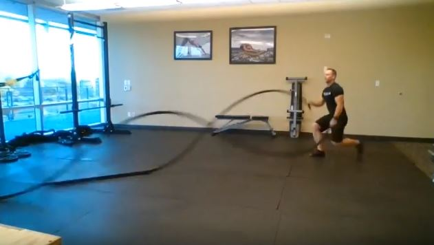 Battle Rope exercises for coaching clients.